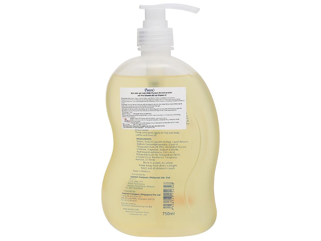 Tắm gội toàn thân cho bé Pureen Pro-Vitamin B5 & Vitamin E 750ml 2