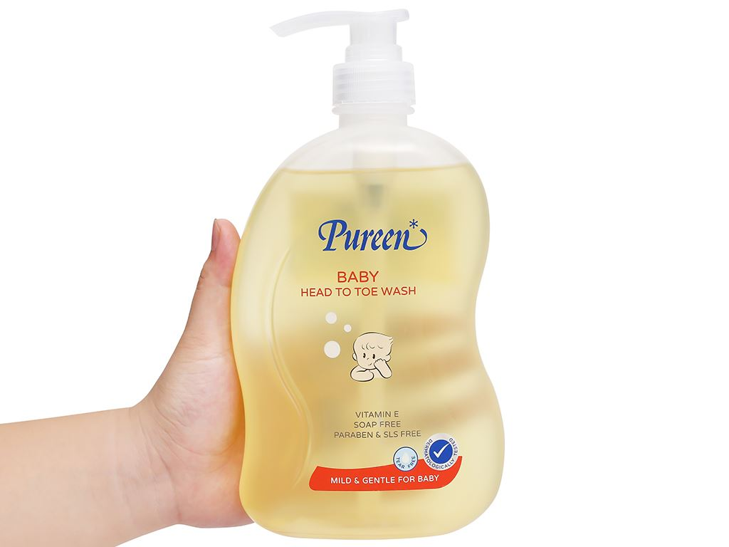Tắm gội toàn thân cho bé Pureen Pro-Vitamin B5 & Vitamin E 750ml 4