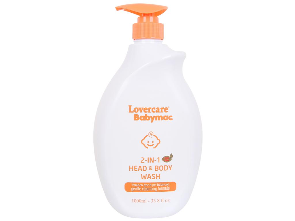 Tắm gội toàn thân cho bé Lovercare Babymac 1 lít 1