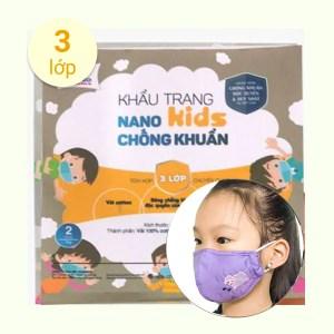 Khẩu trang vải Hanvico Nano kids chống khuẩn - - giao màu ngẫu nhiên