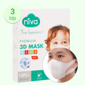 Khẩu trang trẻ em Niva 3D Mask - giao màu ngẫu nhiên