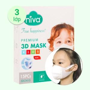 Khẩu trang trẻ em Niva 3D Mask - - giao màu ngẫu nhiên