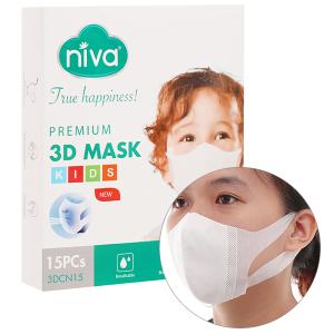 Khẩu trang y tế Niva 3D Mask 4 lớp hộp 15 cái