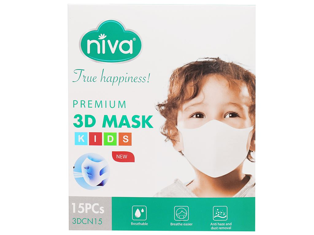 Khẩu trang trẻ em Niva 3D Mask - giao màu ngẫu nhiên 1
