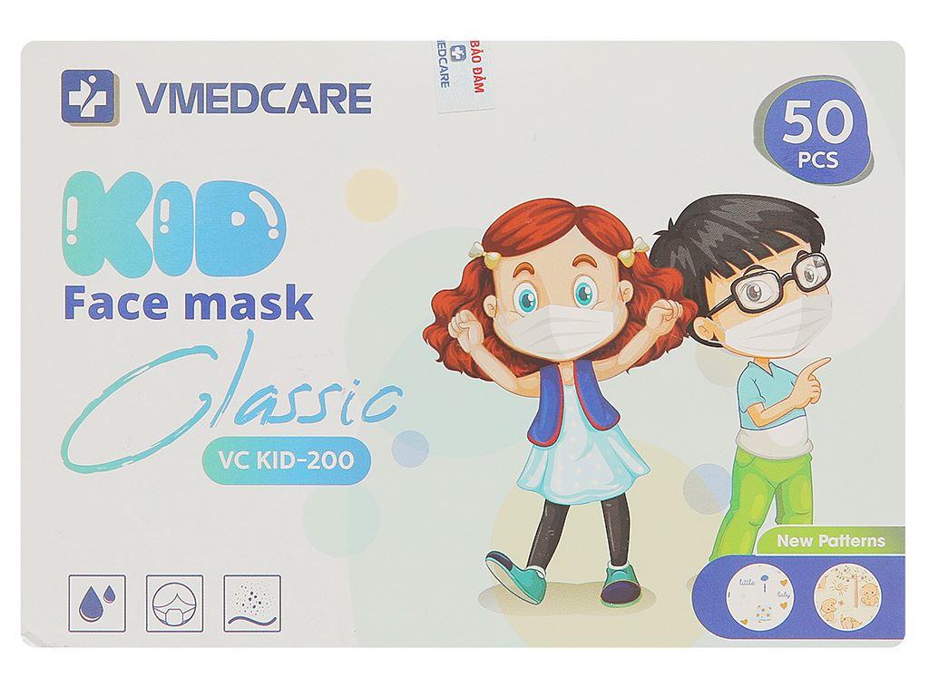 Khẩu trang y tế trẻ em VMEDCARE 3 lớp hộp 50 cái - giao màu ngẫu nhiên 1