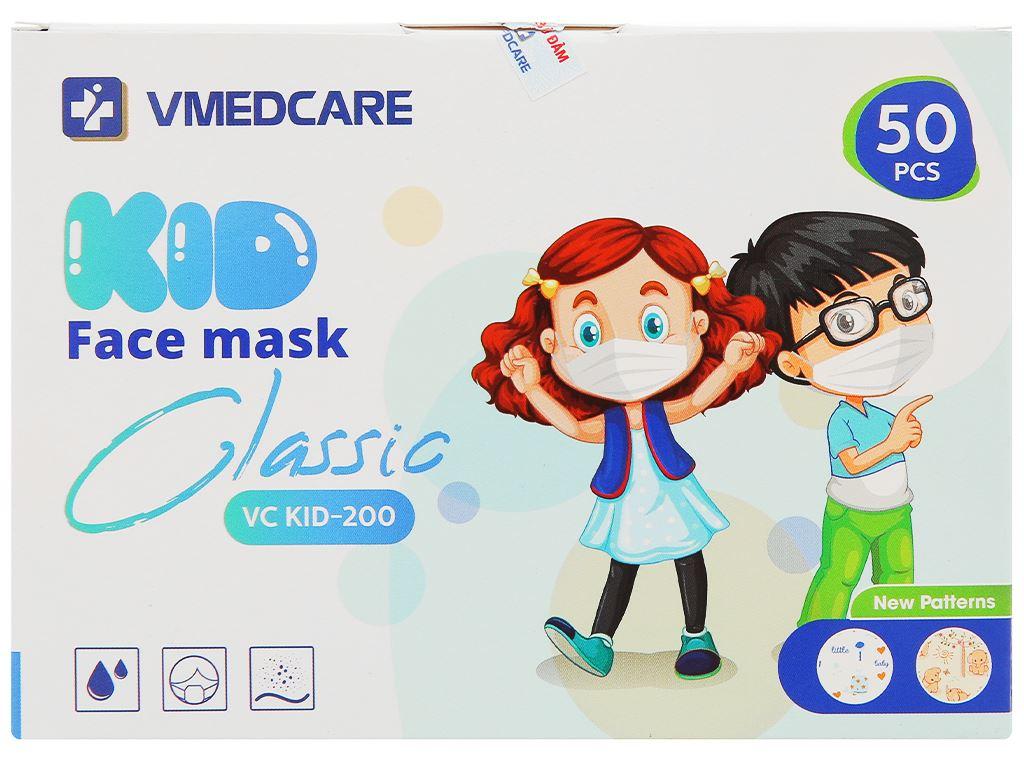 Khẩu trang y tế trẻ em VMEDCARE SMS 3 lớp hộp 50 cái - giao màu ngẫu nhiên 1