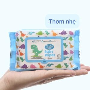 Khăn ướt em bé Tender Soft hương thơm nhẹ gói 30 miếng