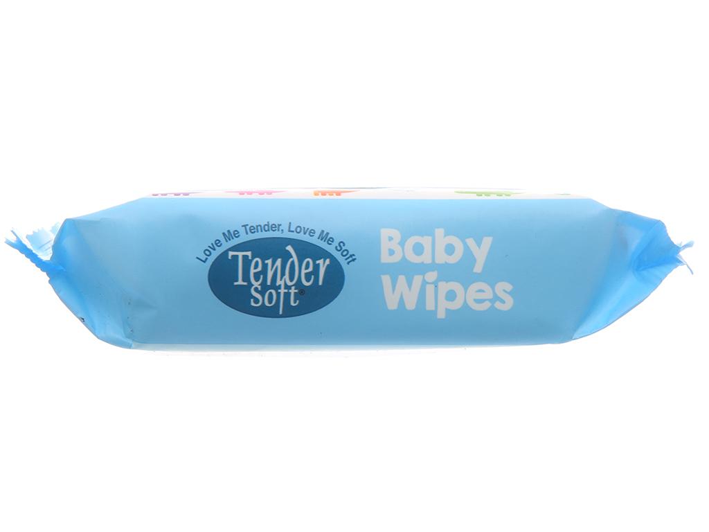 Khăn ướt em bé Tender Soft hương thơm nhẹ gói 30 miếng 4