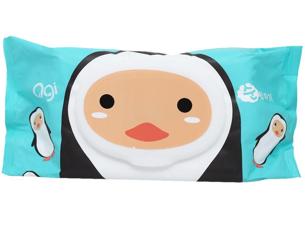 Khăn ướt em bé Agi con ong/chim cánh cụt không mùi gói 100 miếng 2