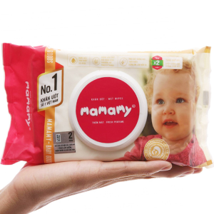 Khăn ướt em bé Mamamy hương thơm mát gói 100 miếng