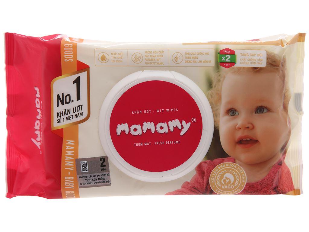 Khăn ướt em bé Mamamy hương thơm mát gói 100 miếng 1