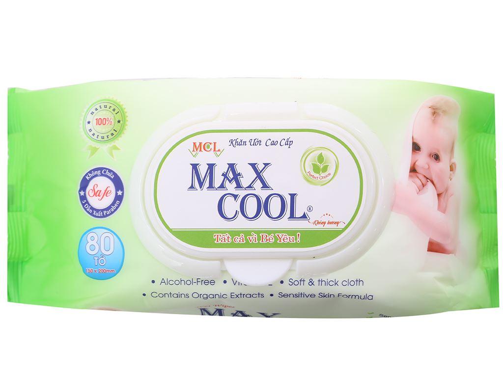 Khăn ướt em bé Max Cool không mùi gói 80 miếng 1