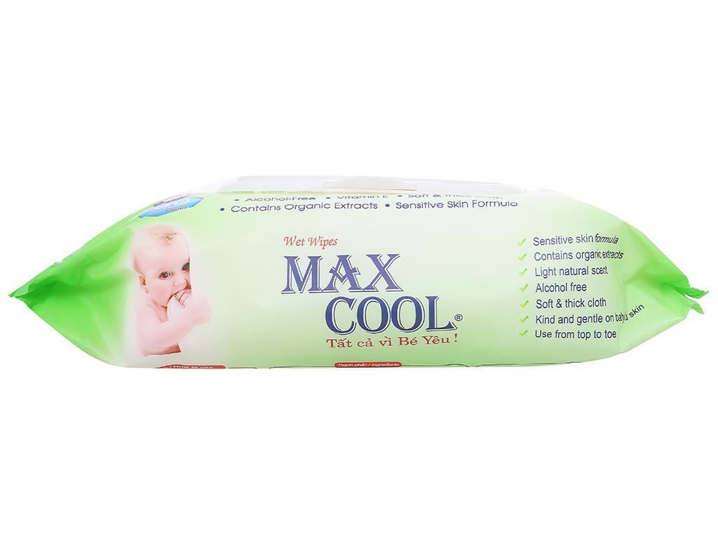 Khăn ướt em bé Max Cool không mùi gói 80 miếng 3