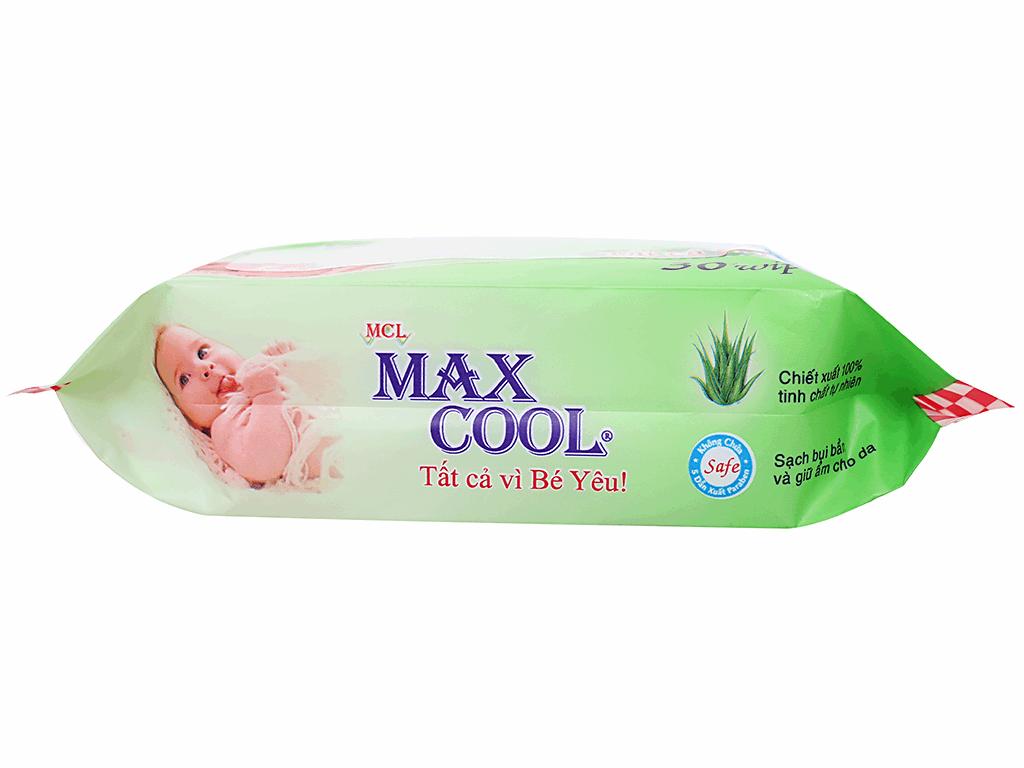 Khăn ướt em bé Max Cool không mùi gói 30 miếng 3