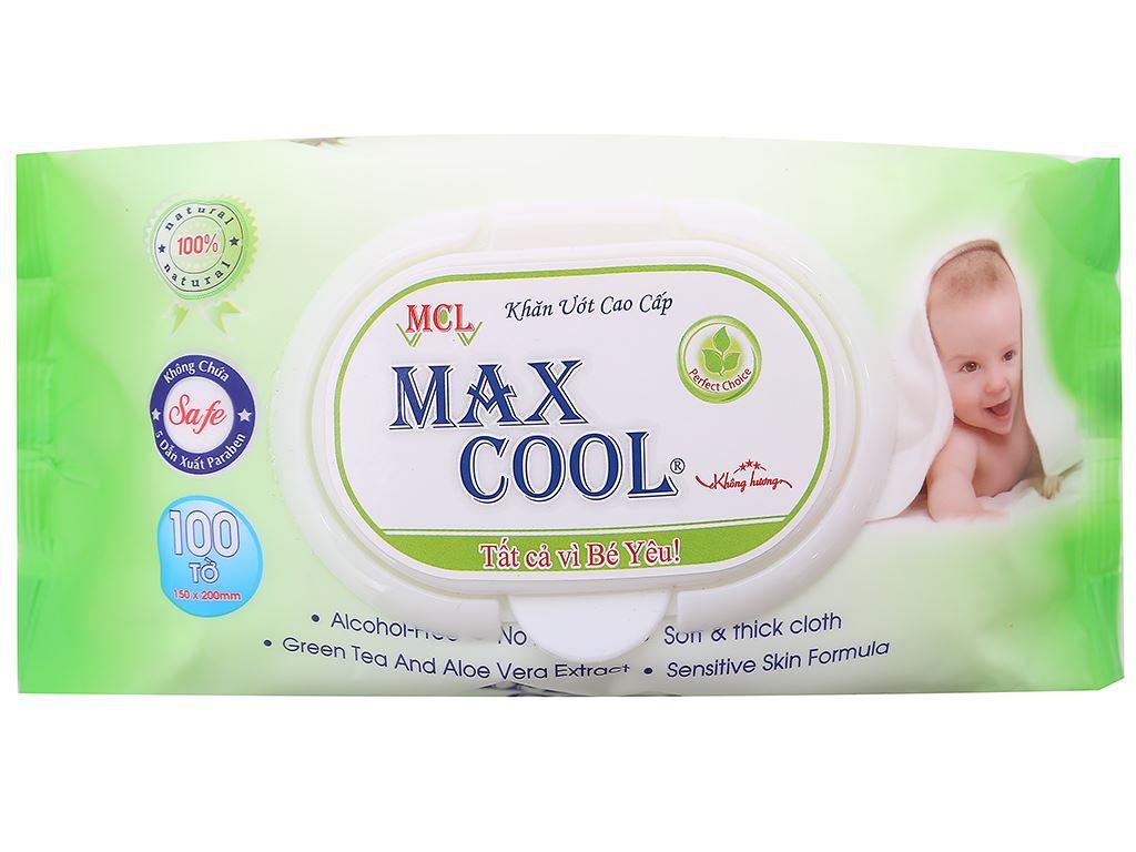 Khăn ướt em bé Max Cool không mùi gói 100 miếng 1