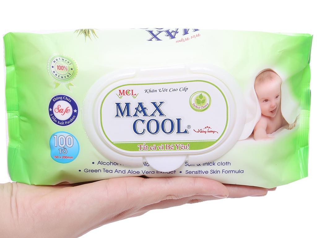 Khăn ướt em bé Max Cool không mùi gói 100 miếng 3