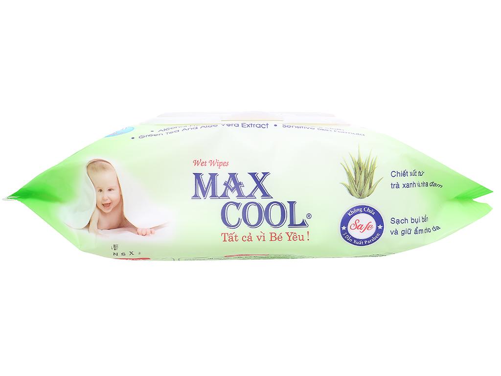 Khăn ướt em bé Max Cool không mùi gói 100 miếng 4