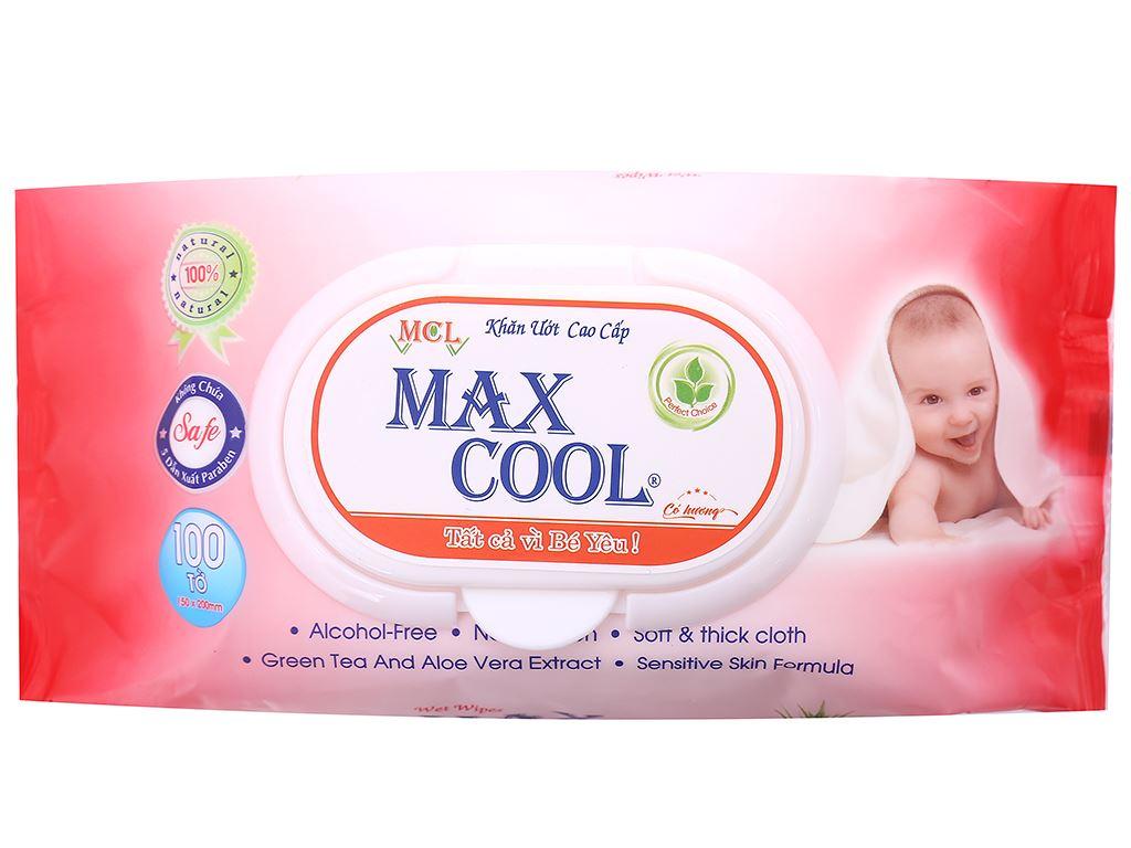 Khăn ướt em bé Max Cool hương tự nhiên gói 100 miếng 1