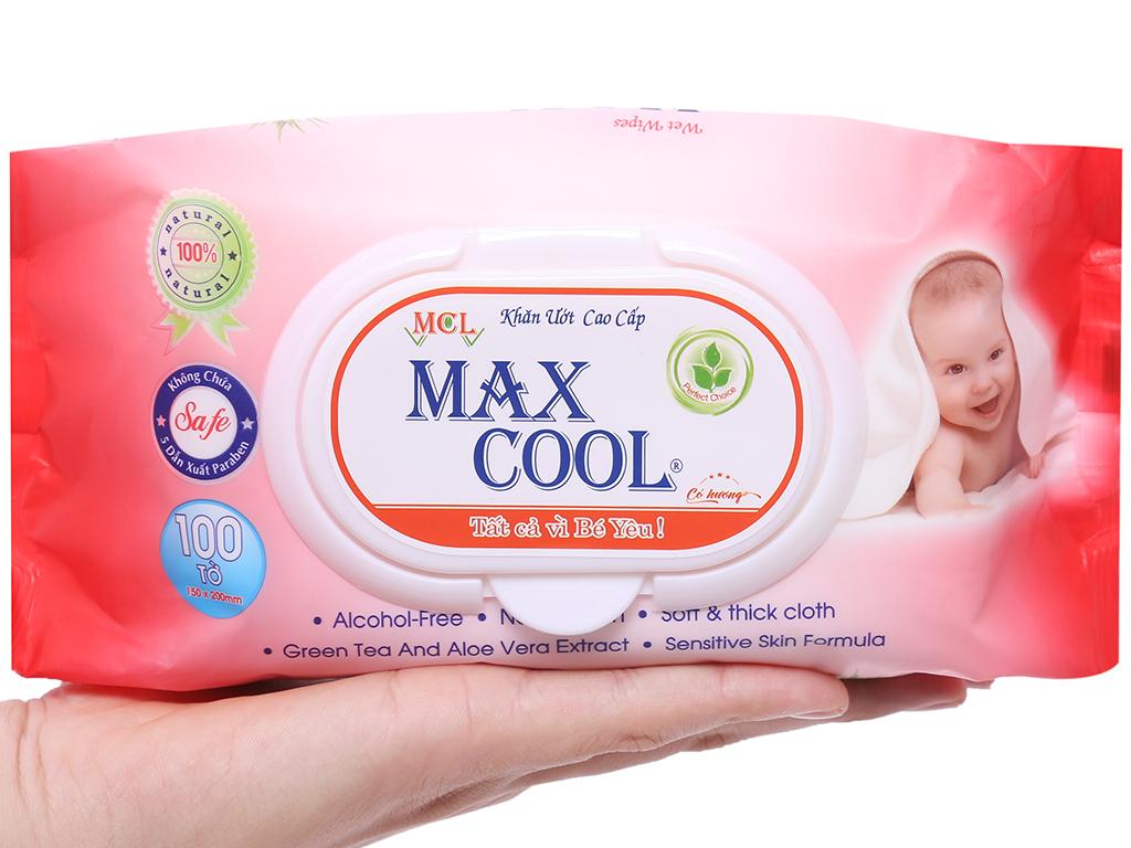 Khăn ướt em bé Max Cool hương tự nhiên gói 100 miếng 4