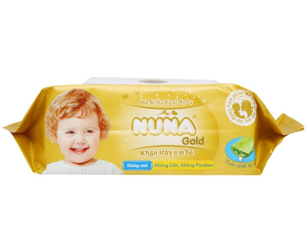 Khăn ướt em bé Nuna Gold không mùi gói 80 miếng 3