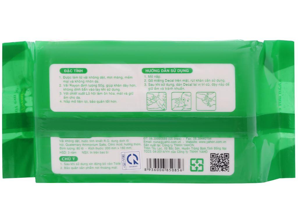 Khăn ướt em bé Nuna Premium hương phấn thơm gói 80 miếng 2
