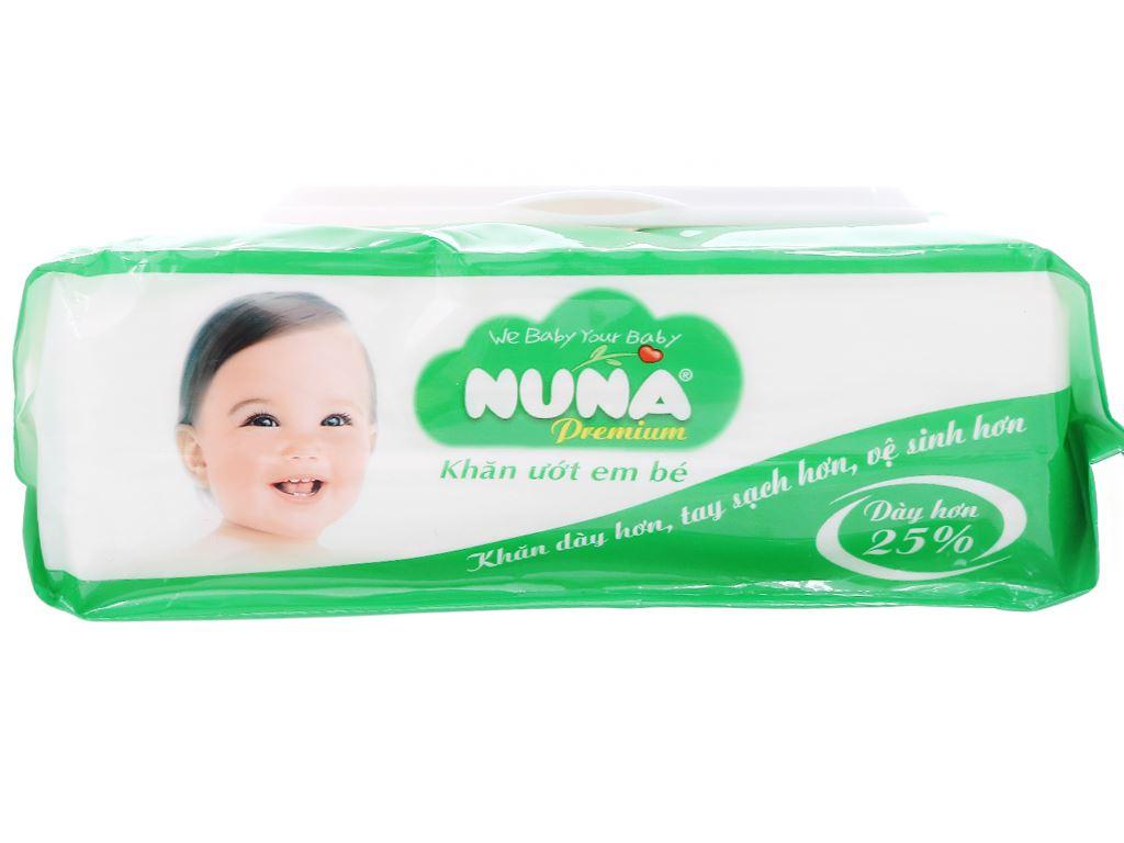 Khăn ướt em bé Nuna Premium hương phấn thơm gói 80 miếng 3