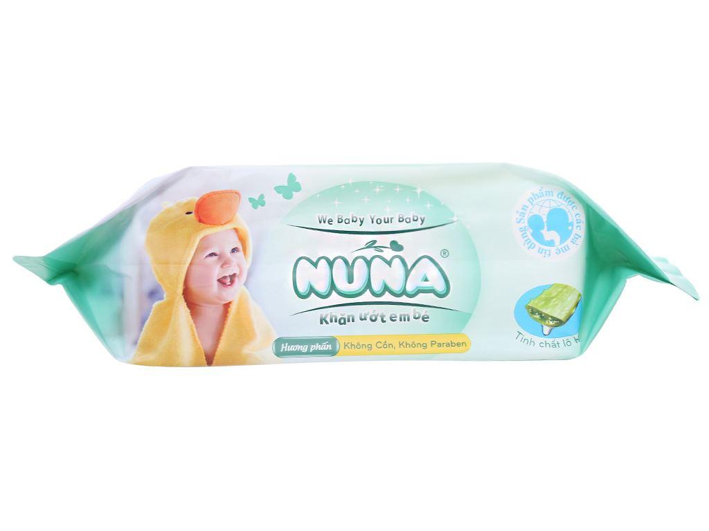 Khăn ướt em bé Nuna hương phấn thơm gói 100 miếng 4