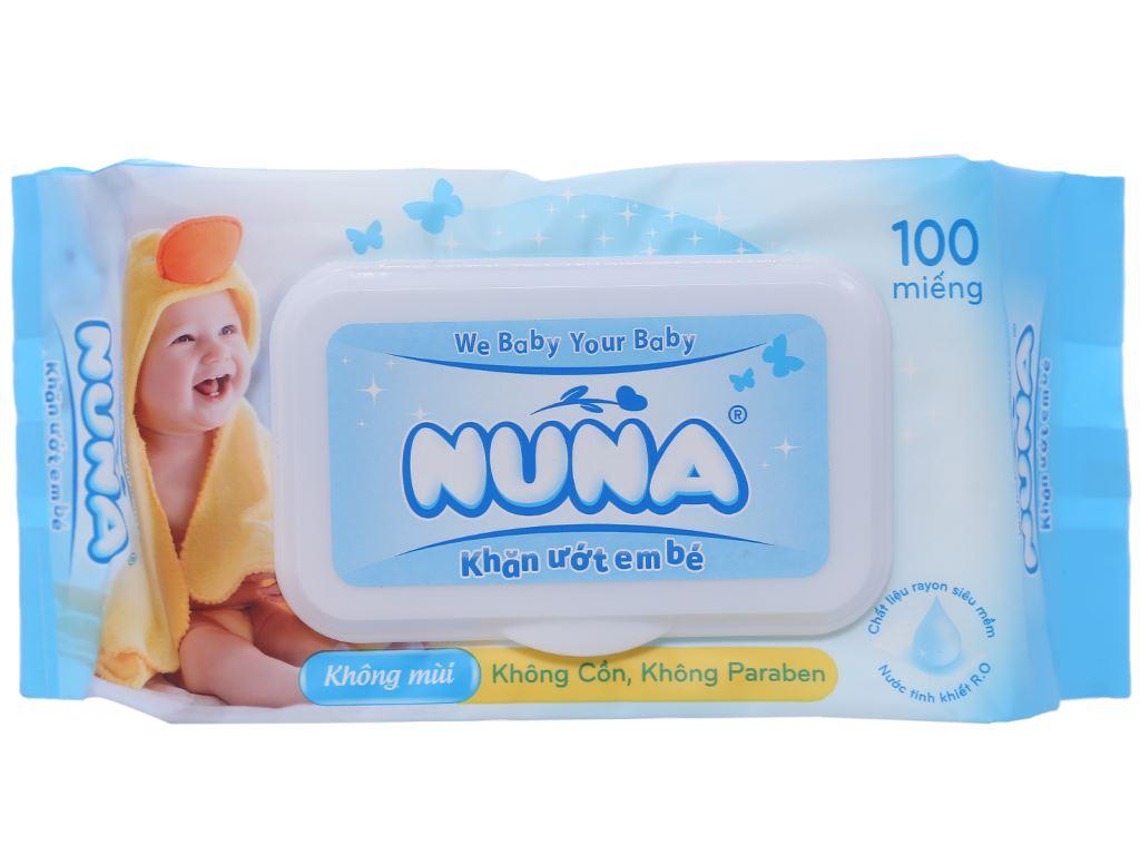 Khăn ướt em bé Nuna không mùi gói 100 miếng 2