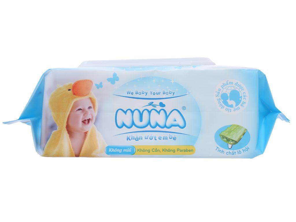 Khăn ướt em bé Nuna không mùi gói 100 miếng 4