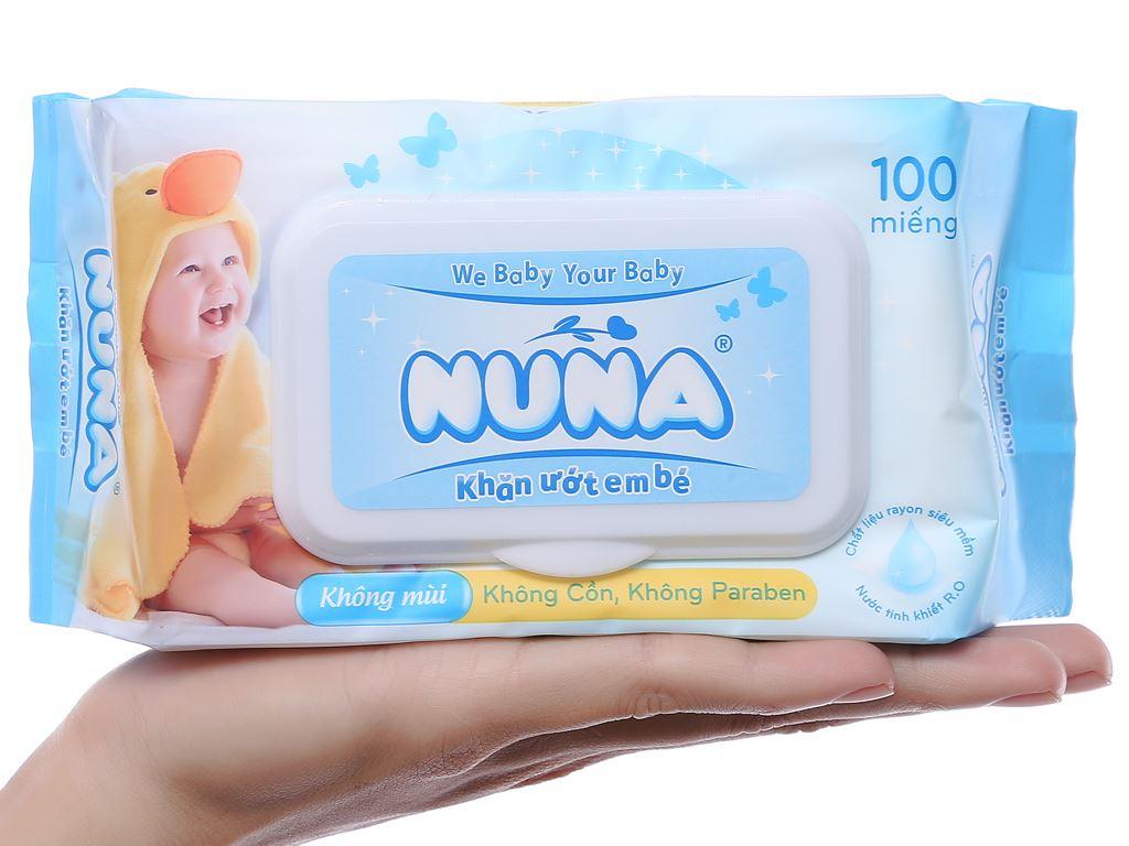 Khăn ướt em bé Nuna không mùi gói 100 miếng 6