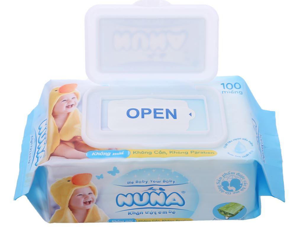 Khăn ướt em bé Nuna không mùi gói 100 miếng 7