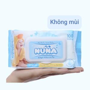 Khăn ướt em bé Nuna không mùi gói 100 miếng