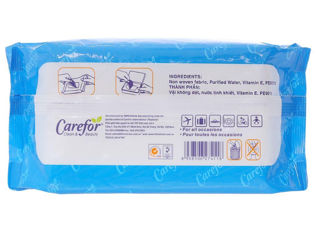 Khăn ướt em bé Carefor không mùi gói 80 miếng 2