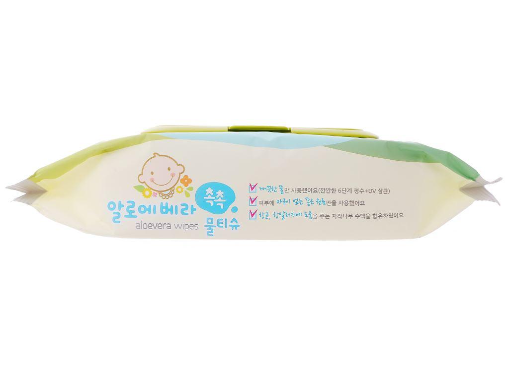 Khăn ướt em bé Living Aloe Vera Chok Chok hương tự nhiên gói 80 miếng 3