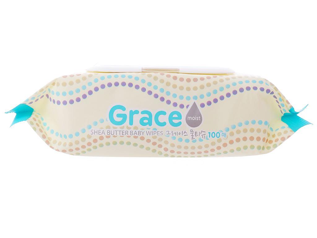Khăn ướt em bé Living Grace hương tự nhiên gói 100 miếng 3
