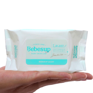 Khăn ướt em bé Bebesup Light hương tự nhiên gói 20 miếng