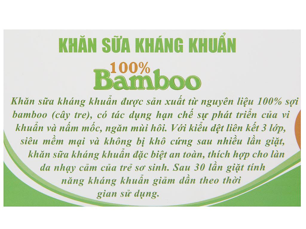 Bộ khăn sữa Mollis 100% bamboo P940 hộp 10 cái 3