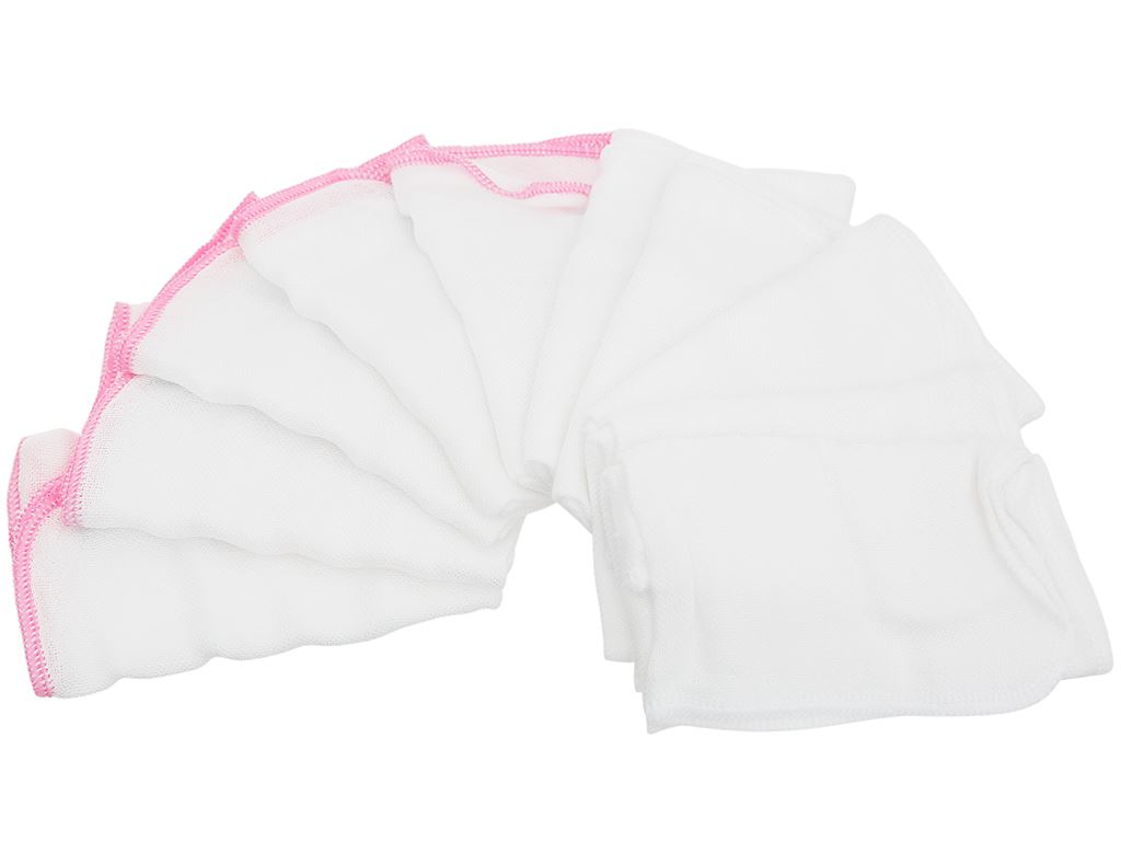 Bộ khăn sữa Mollis 100% bamboo P940 hộp 10 cái 5