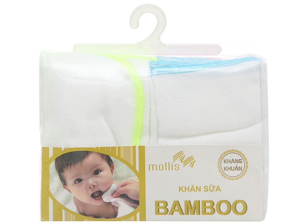 Bộ khăn sữa Mollis 100% bamboo P637 hộp 20 cái 1