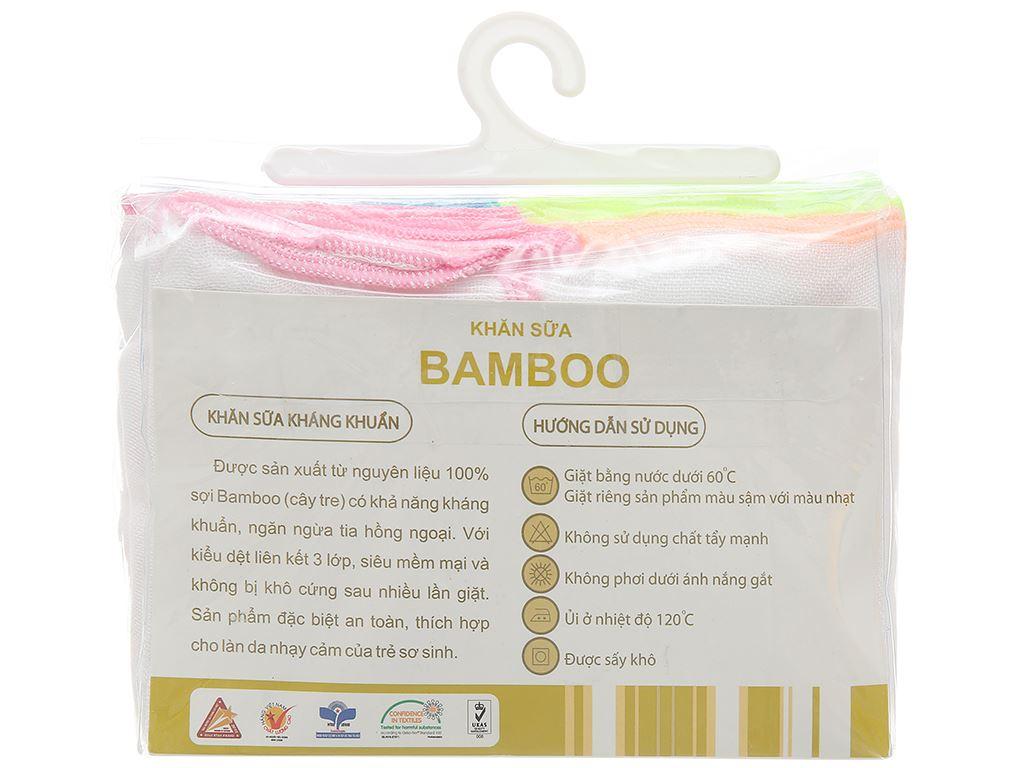 Bộ khăn sữa Mollis 100% bamboo P637 hộp 20 cái 2