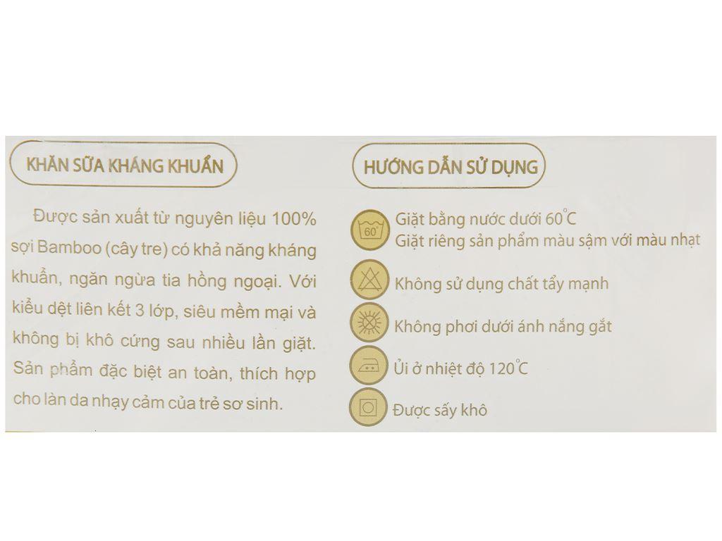 Bộ khăn sữa Mollis 100% bamboo P637 hộp 20 cái 3