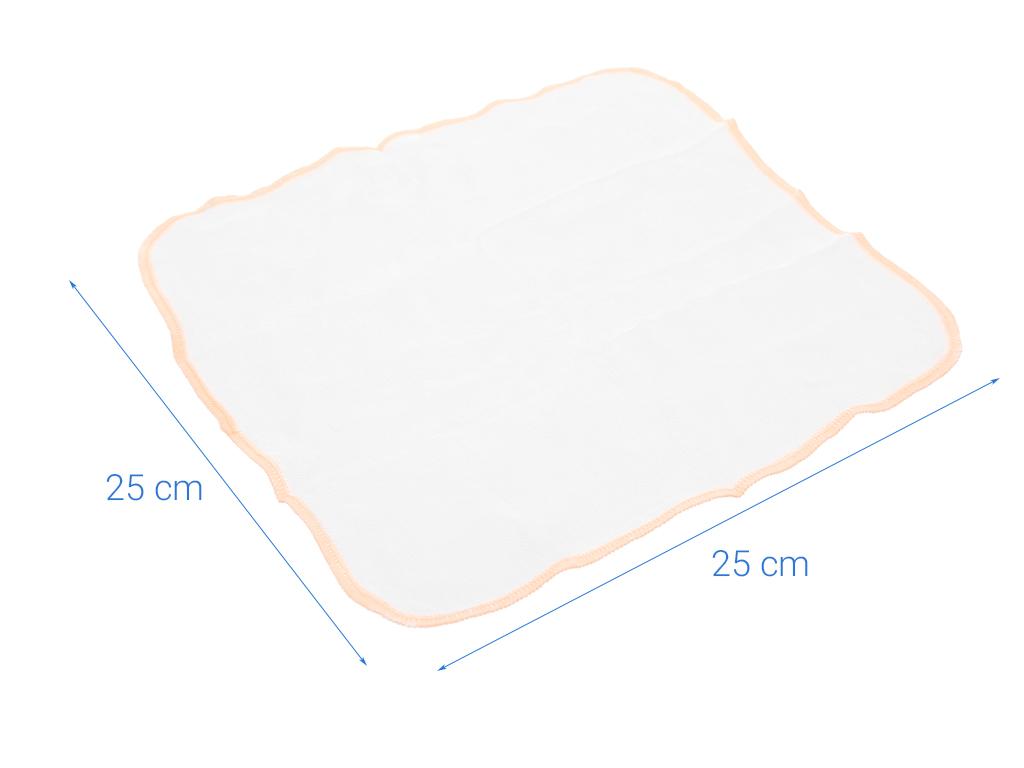 Bộ khăn sữa Mollis 100% bamboo P637 hộp 20 cái 5