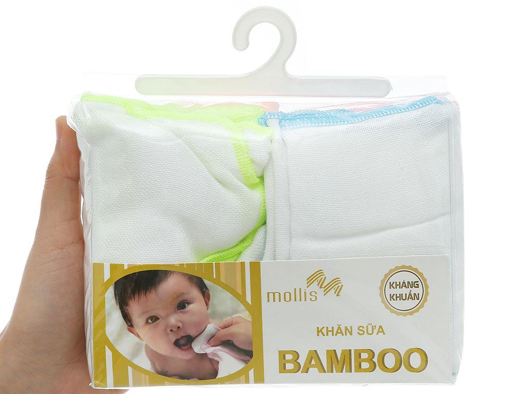 Bộ khăn sữa Mollis 100% bamboo P637 hộp 20 cái 6