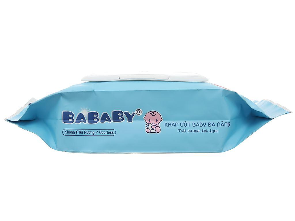 Khăn ướt em bé Bababy xanh gói 80 miếng 3