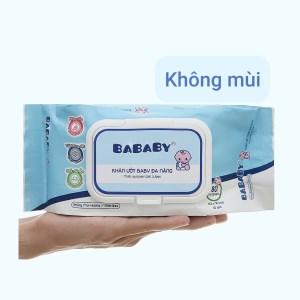 Khăn ướt em bé Bababy xanh gói 80 miếng