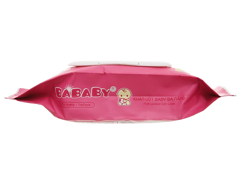 Khăn ướt em bé Bababy hồng gói 80 miếng 3
