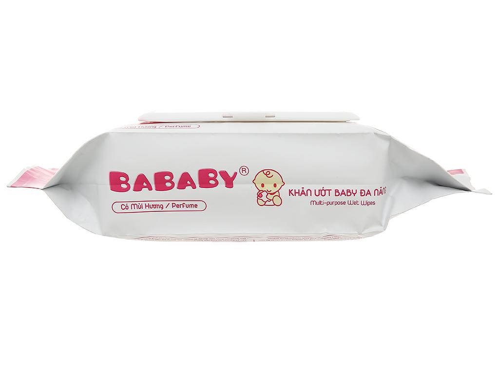 Khăn ướt em bé Bababy hồng gói 80 miếng 4