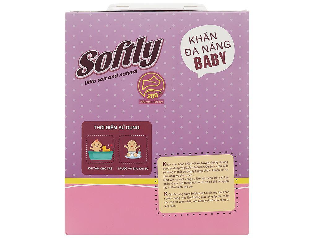 Khăn lau đa năng Softly Baby hộp 200 miếng 2