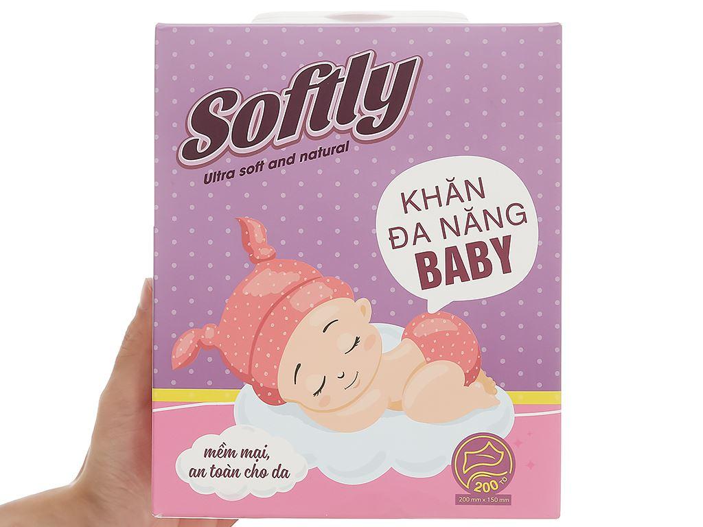 Khăn lau đa năng Softly Baby hộp 200 miếng 9