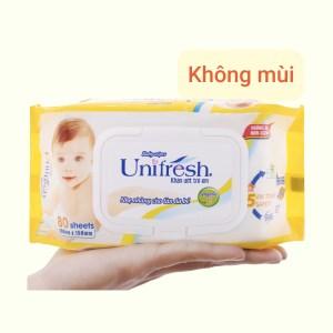 Khăn ướt em bé Unifresh không mùi gói 80 miếng